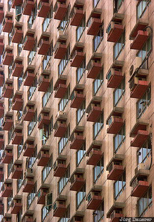 Hong Kong pattern, house, building, balcony, windows, pattern, Hong Kong