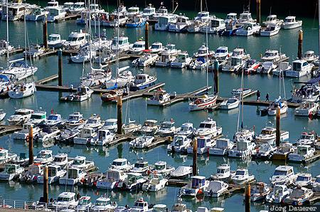 Fécamp Marina, Fécamp, FRA, France, Haute-Normandie, Normandy, above, boats, Côte d'albâtre, evening light