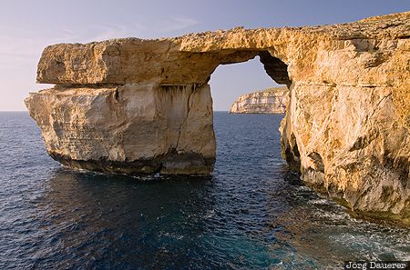 Malta, San Lawrenz, azure window, Game of Thrones, beach, coast, evening light