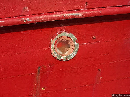 Portmagee, color red, Kerry, detail, Republic of Ireland, Ireland, Irland