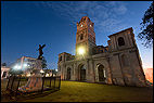 Iglesia San José, CUB, Cuba, Holguín, blue hour, church, flood-lit, morning light, Parque San Josè, sunrise